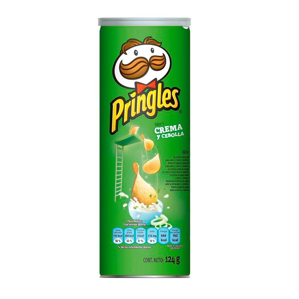 Papas Pringles crema cebolla x 124 g