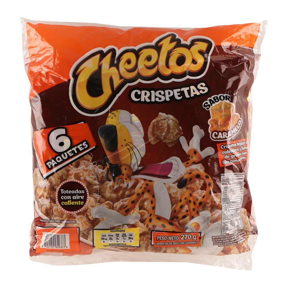 Pasabocas Cheetos crispetas caramelo