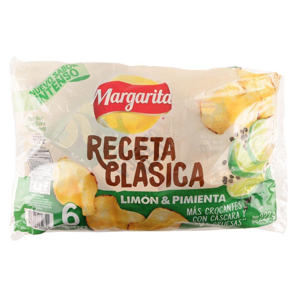 Papas receta clásica limón pimienta