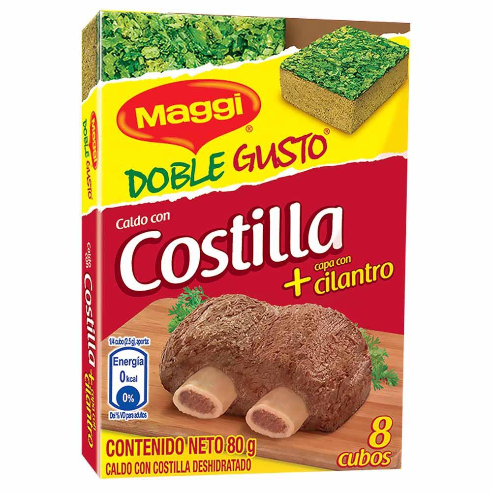 Caldo con costilla deshidratado doble gusto con cilantro