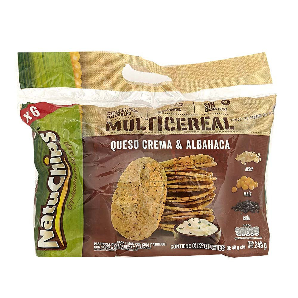 Pasabocas multicereal queso crema