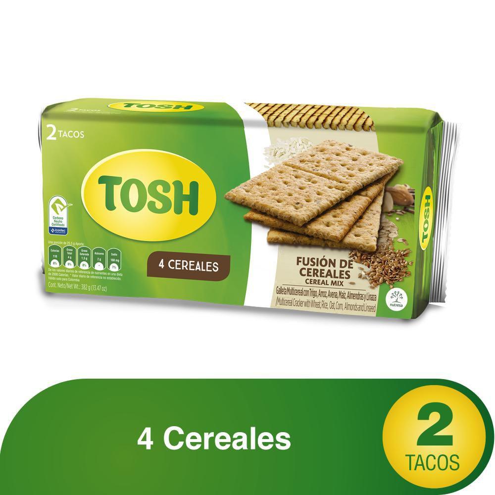 Galletas Tosh Fusión de Cereales