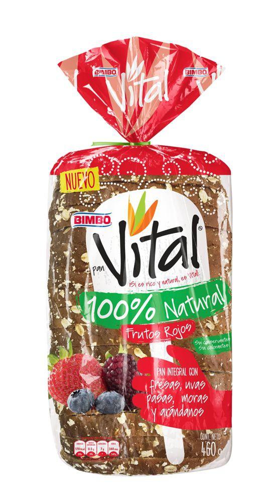 Pan Bimbo vital frutos rojos x 460 g