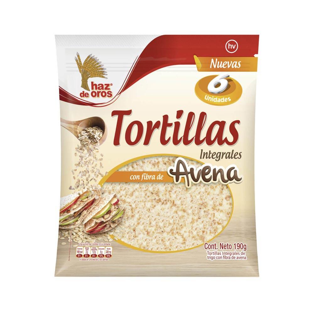 Tortillas Haz De Oros integrales avena x 6 und x 190 g