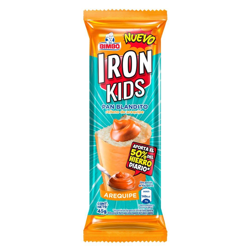 Pan Bimbo Iron kids arequipe x 45g