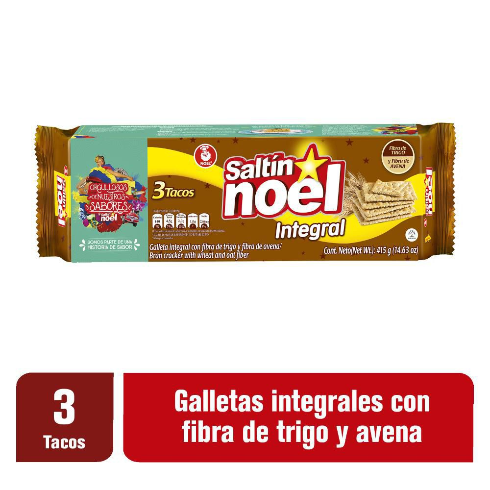 Galletas Integrales Saltín Noel