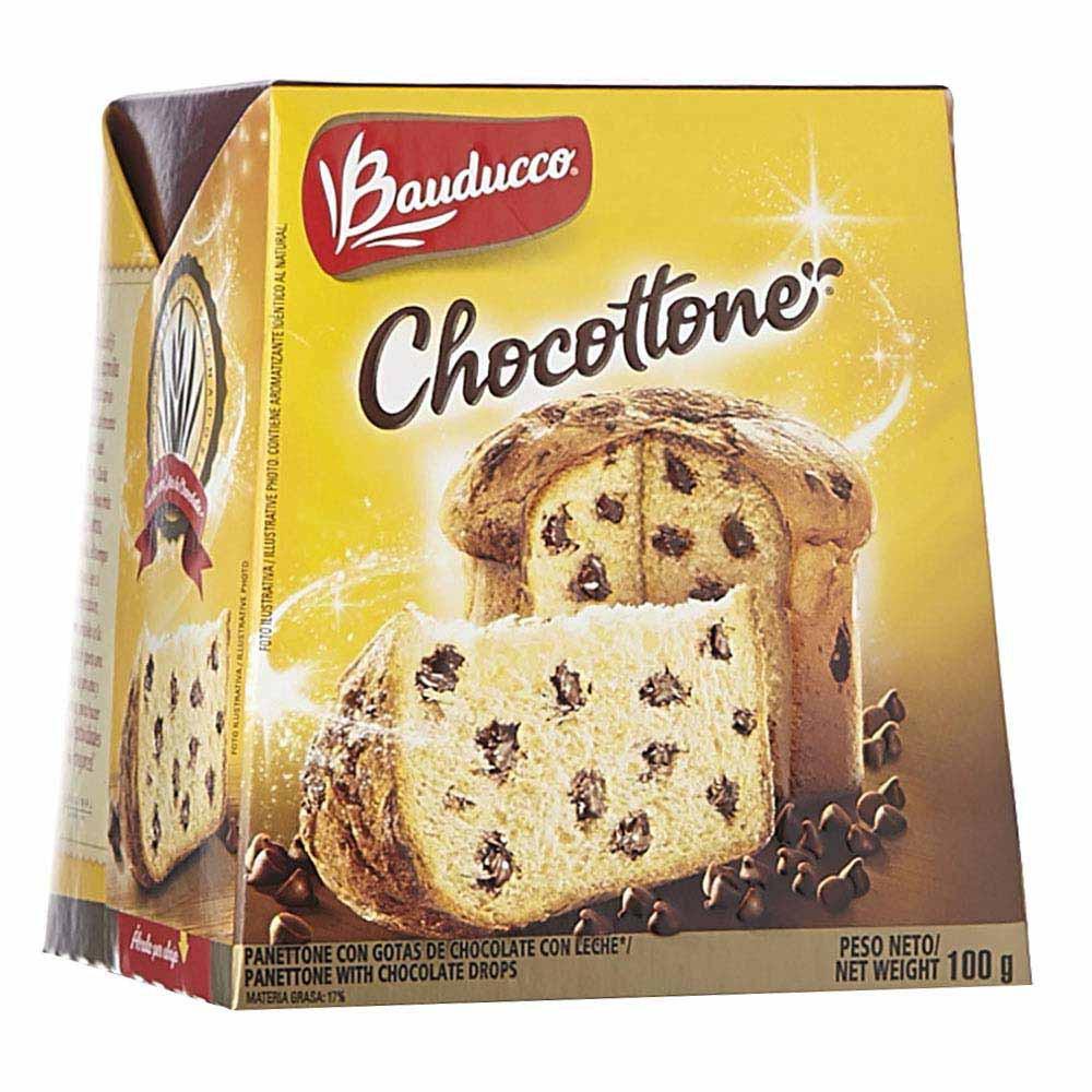 Panettone gotas chocholate Bauducco x100g
