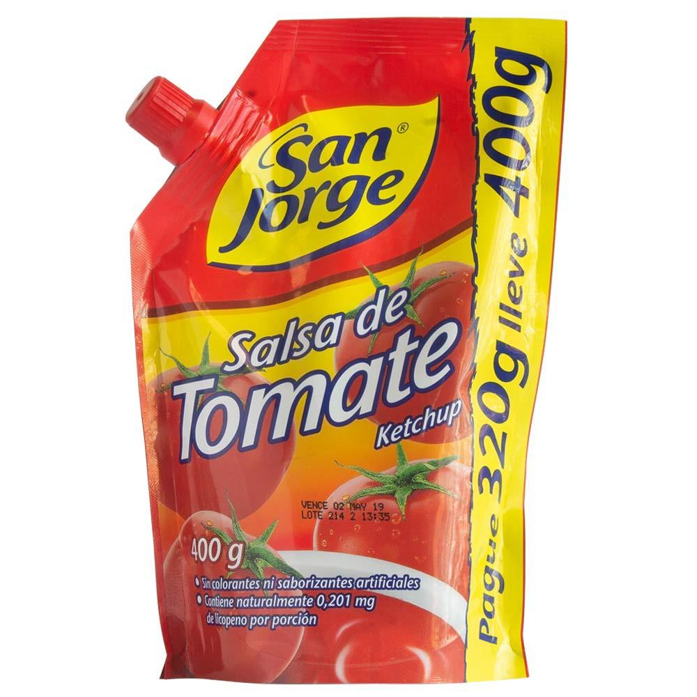 Salsa de tomate San Jorge doypack pague 320g lleve 400g