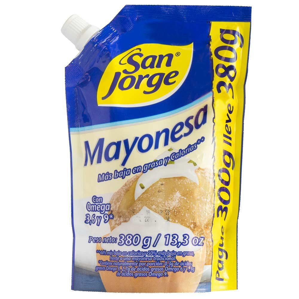 Mayonesa San Jorge doypack pague 300g lleve 380g