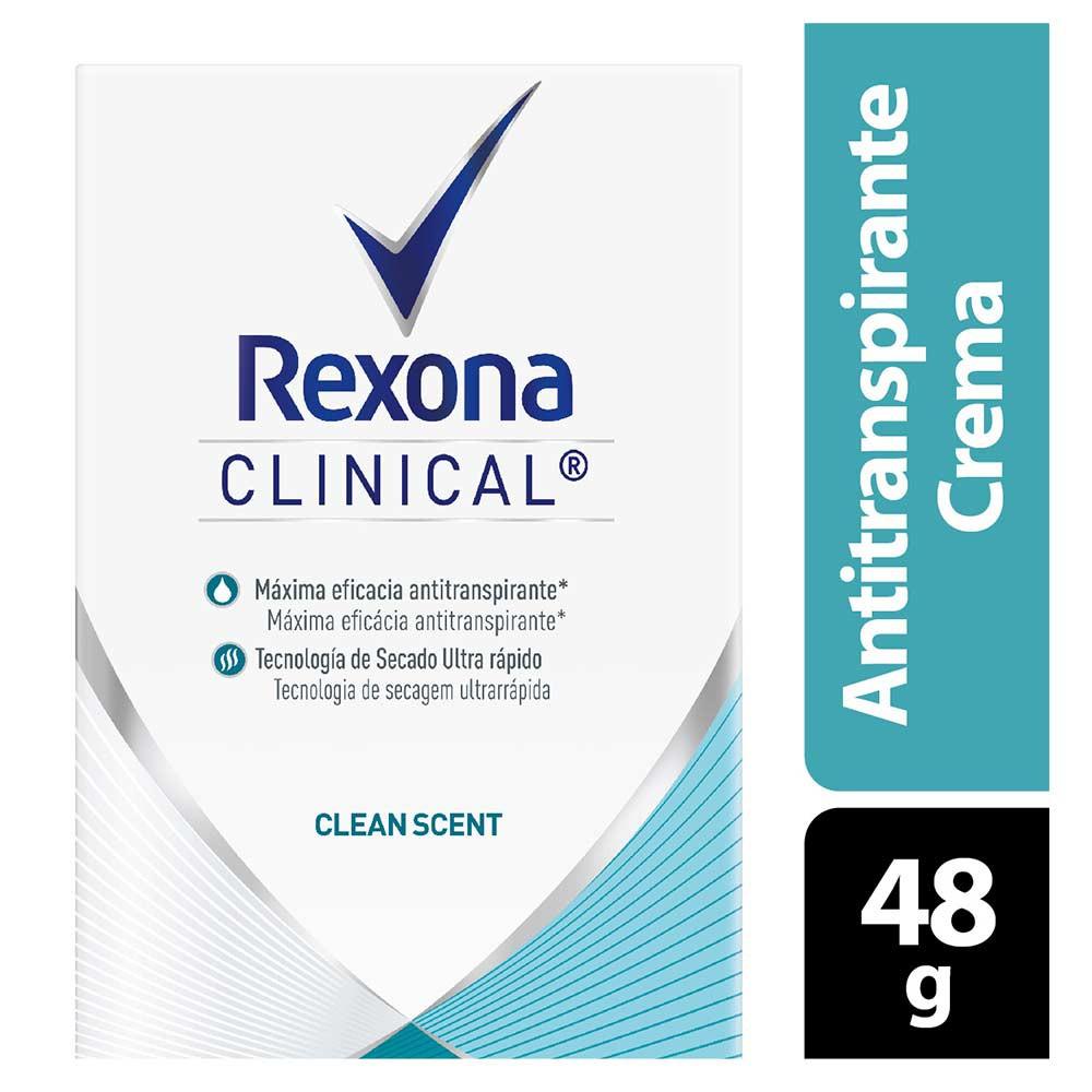 Desodorante Rexona clinical clean scent women crema
