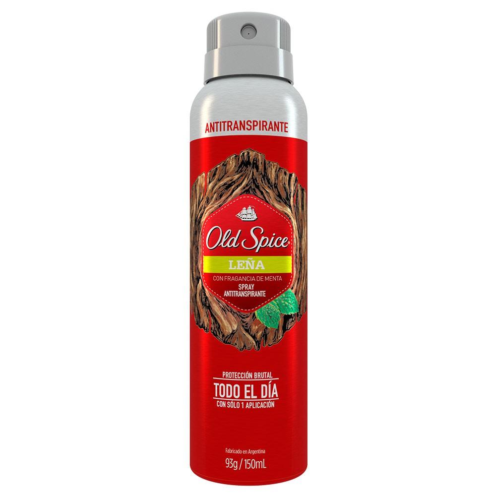 Old Spice Fresher Leña Spray Antitranspirante