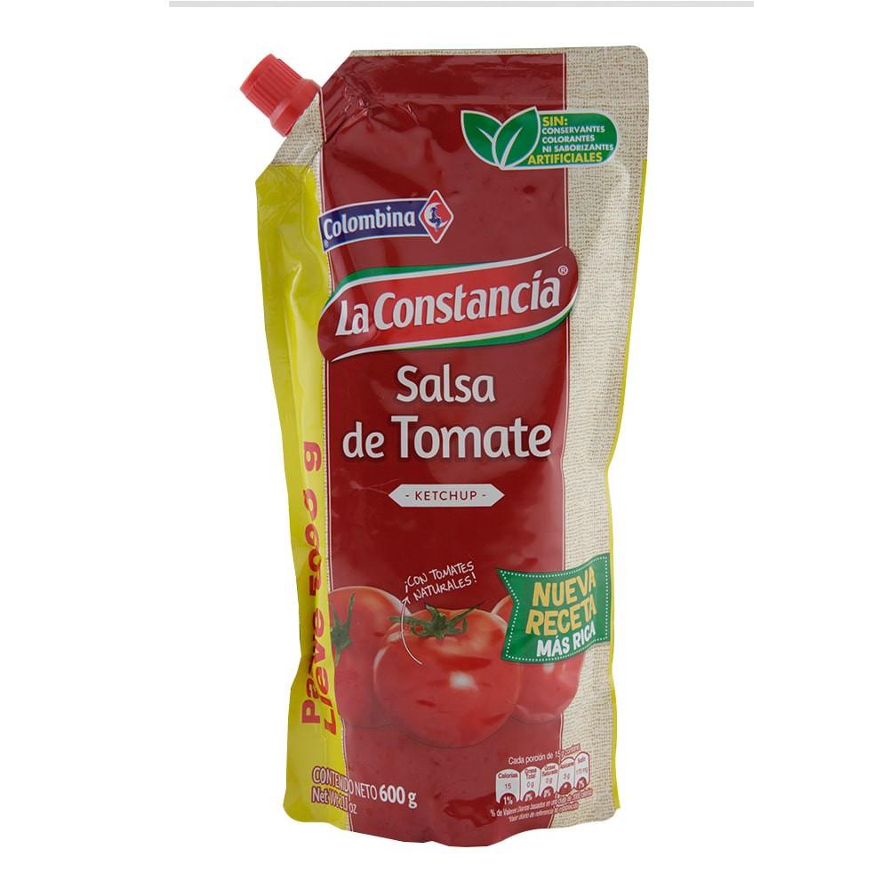 Salsa La Constancia tomate pague 500 g lleve 600 g