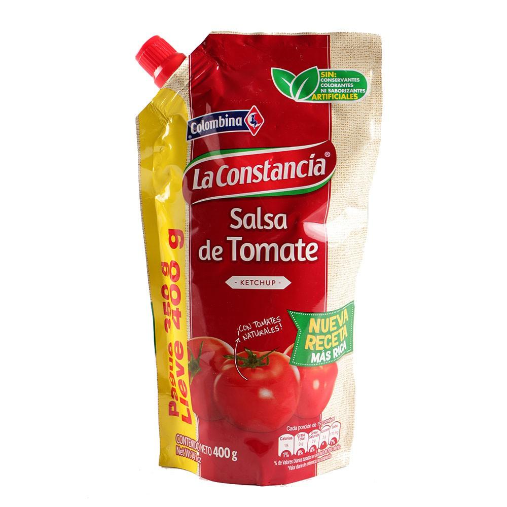 Salsa La Constancia tomate pague 350 g lleve 400 g
