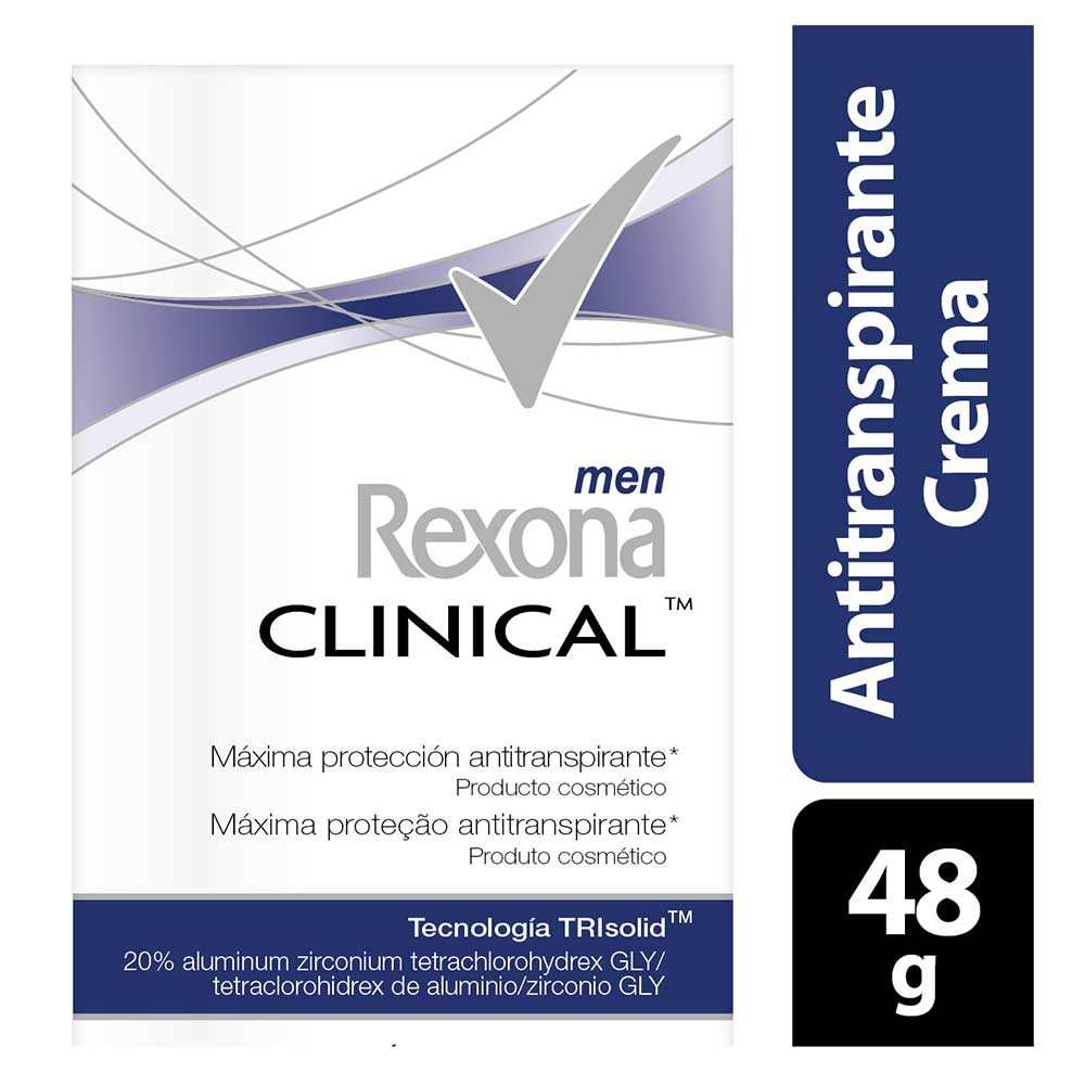 Desodorante Rexona clinical men crema