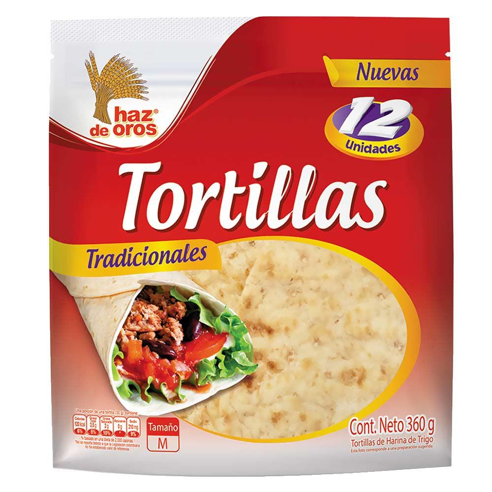 Tortillas Tradicionales Haz de Oros 12 Und