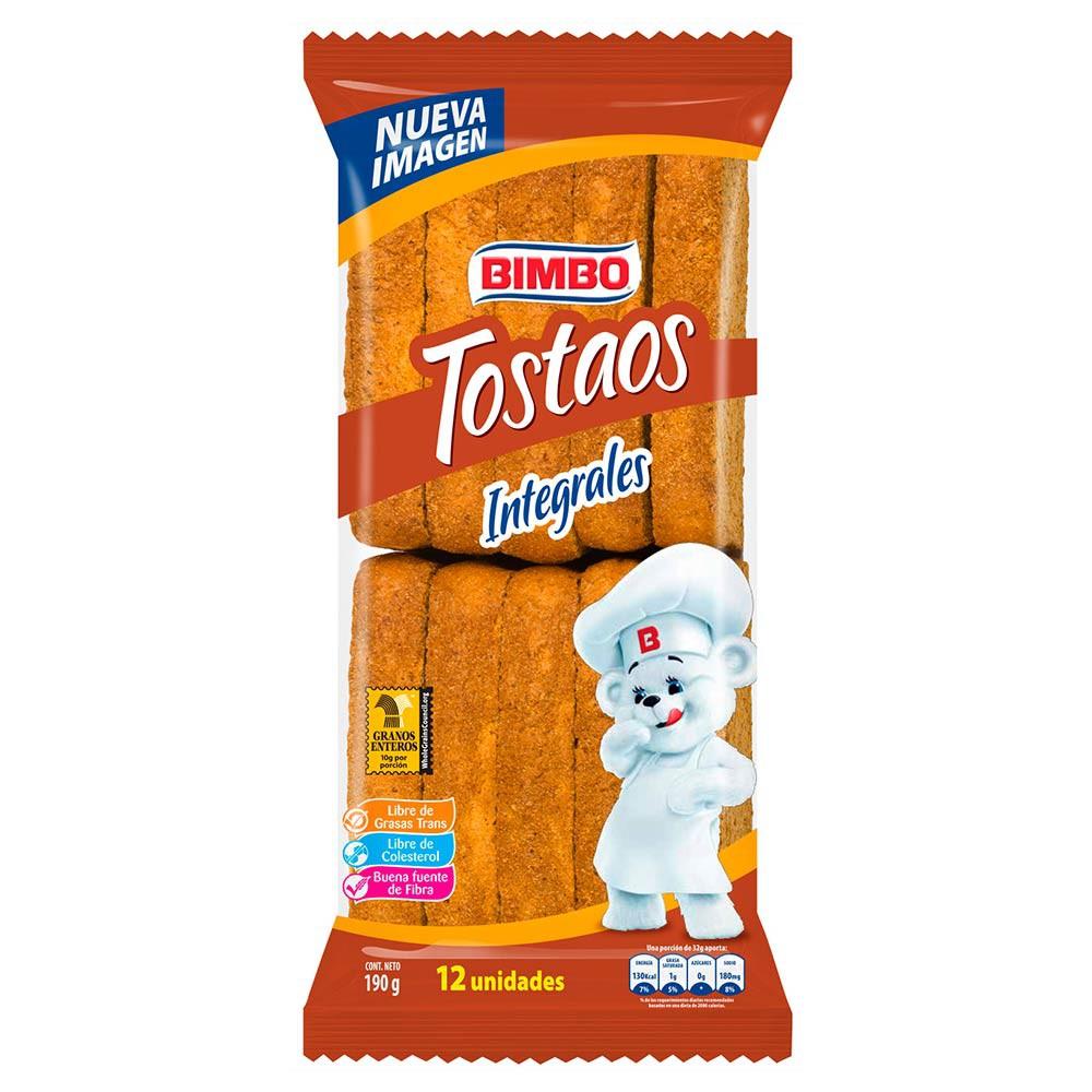 Tostaos Integrales Bimbo 12 Und