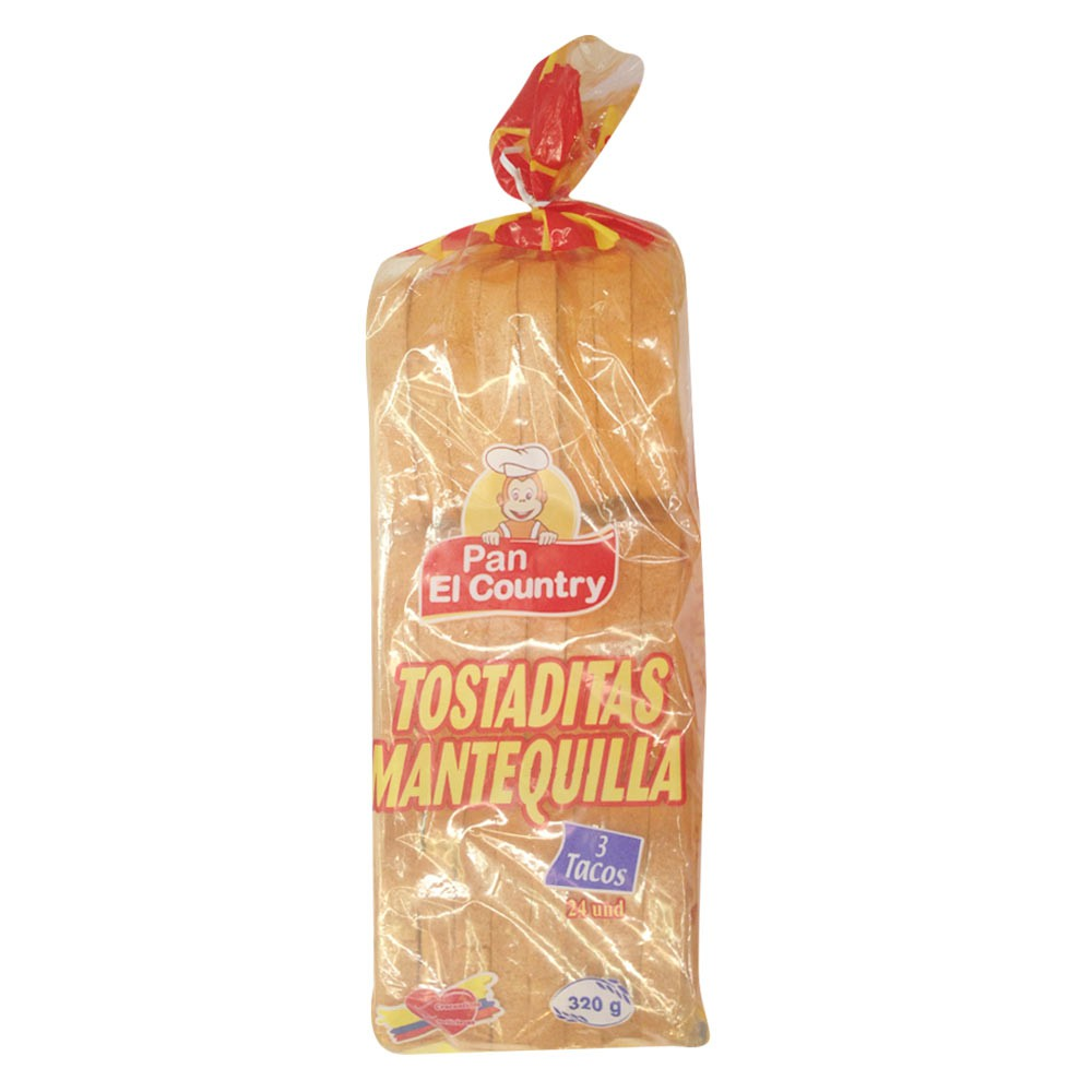 Tostaditas mantequilla El country