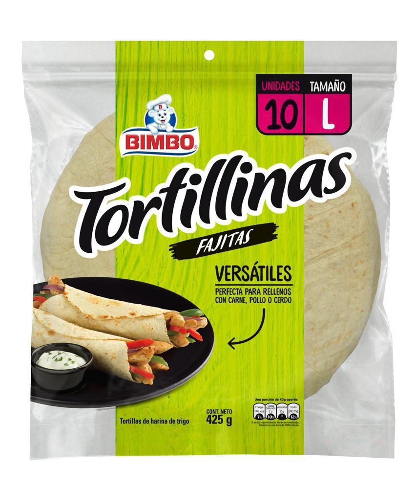 Tortillas fajitas blancas Bimbo 10 Und