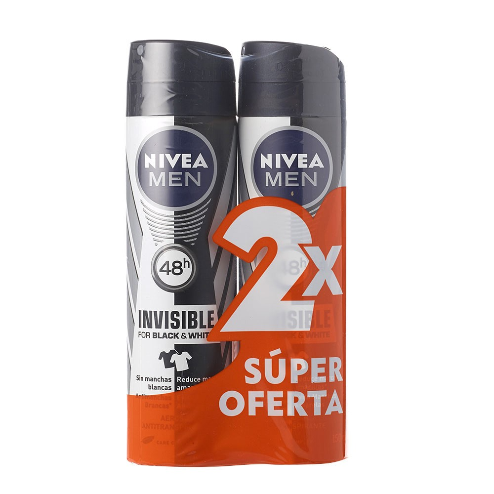 Anti transpirante men invisible black white Nivea aerosol