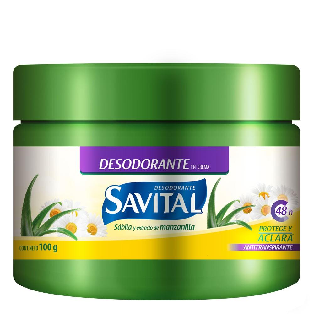 Desodorante Savital sabila mazanilla crema x 100 g