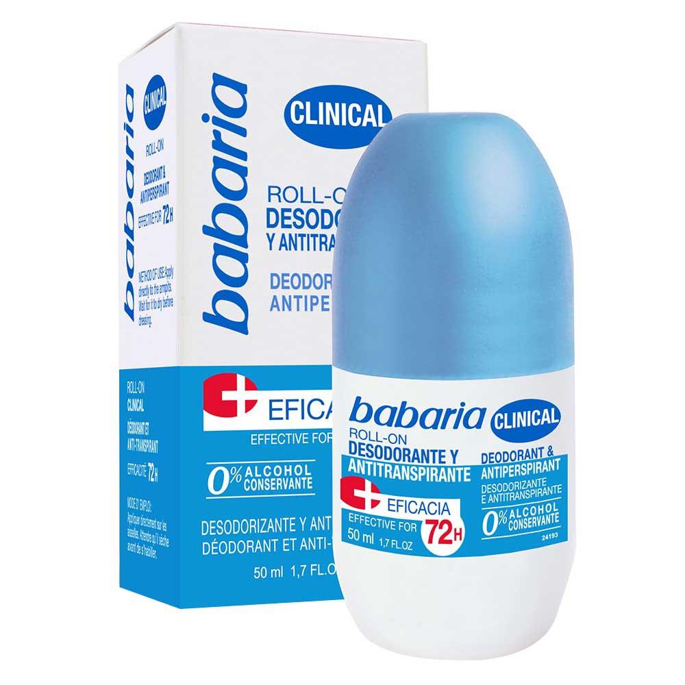 Desodorante Antitranspirante clinical Babaria roll on x 50 ml