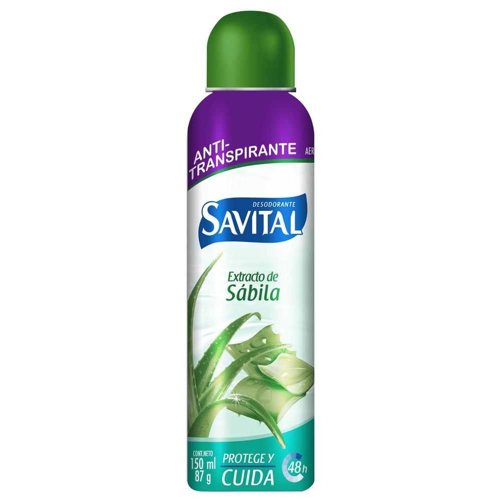 Desodorante Savital sabila aerosol x 150 ml