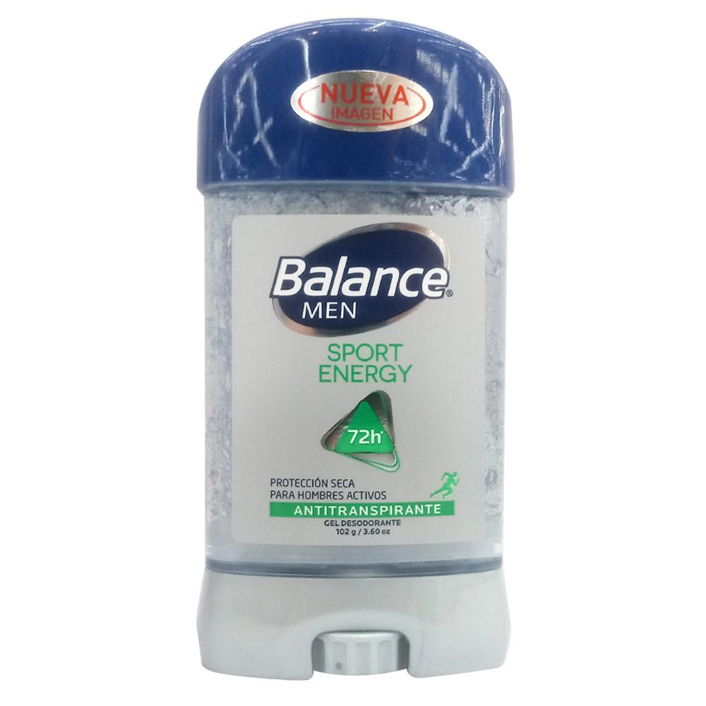 Desodorante Balance men antitranspirante total protección sport gel 72h