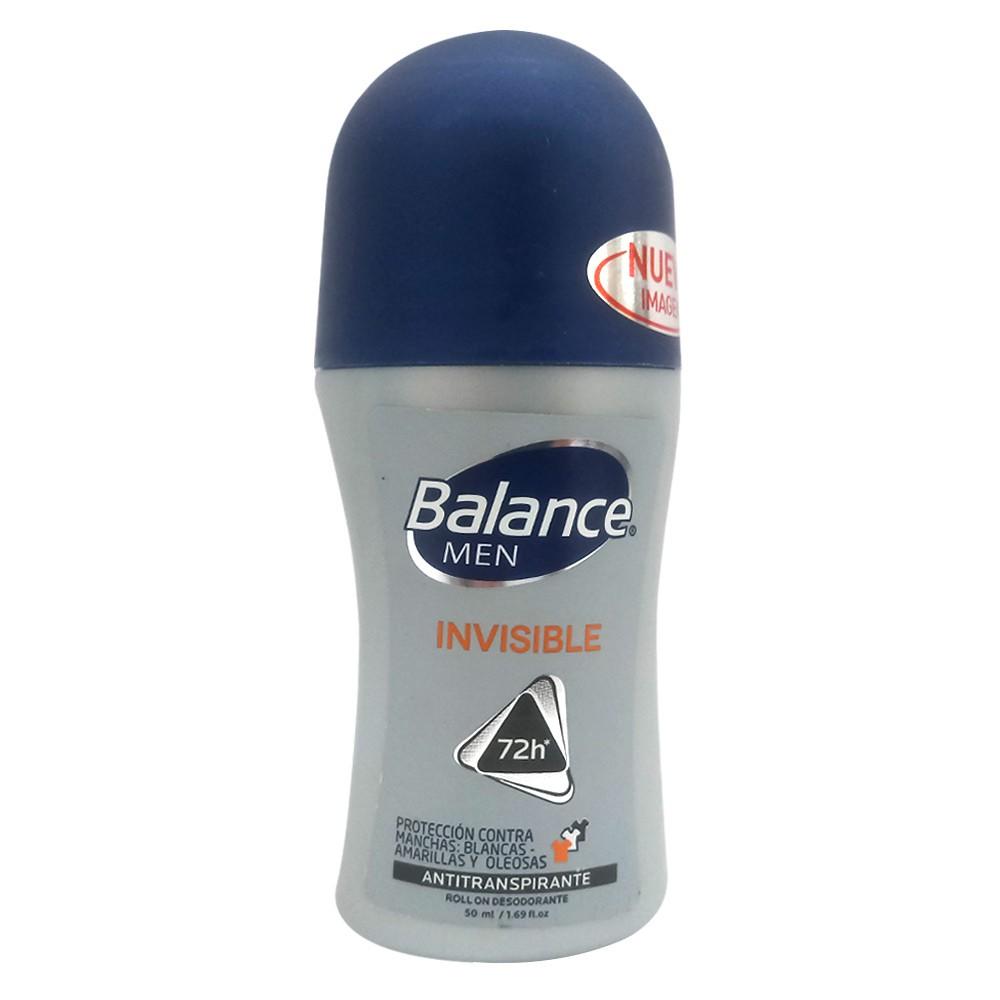 Desodorante Balance men antitranspirante invisible roll on