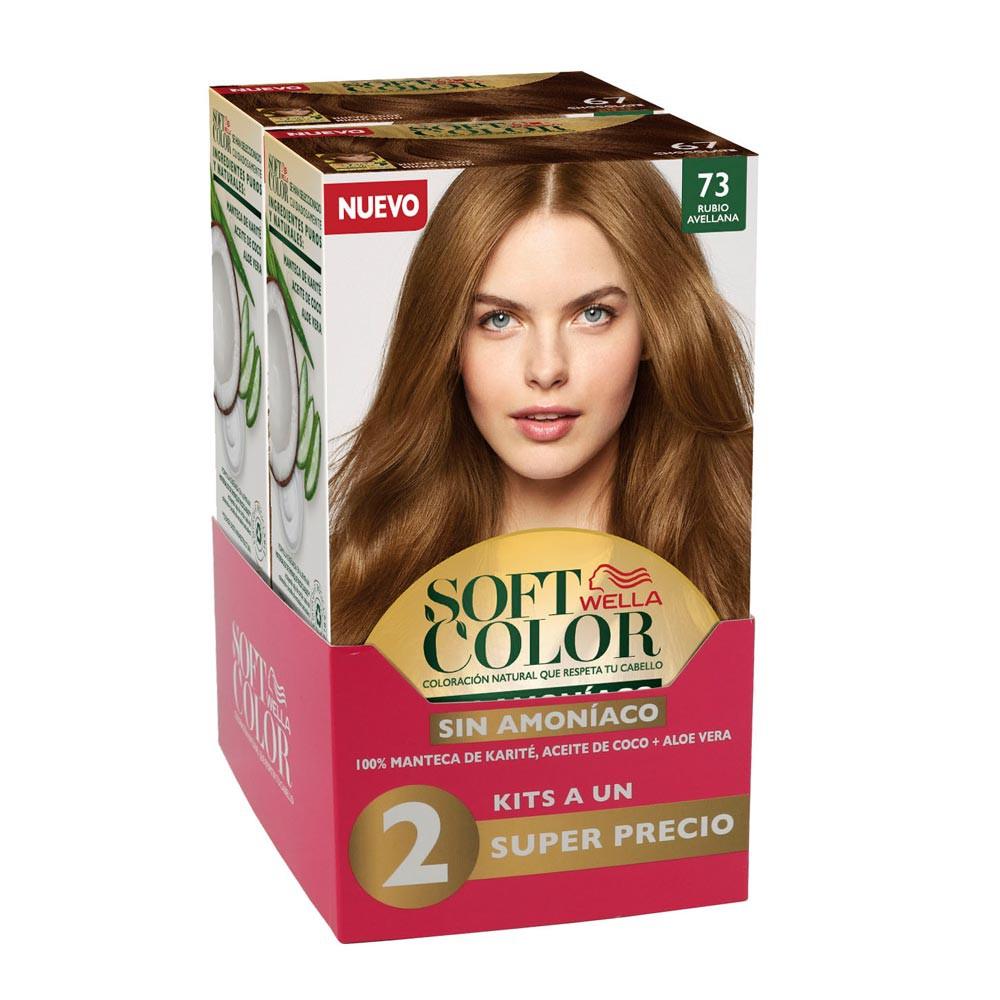 Kit Wella soft color tono 73 avellana x 2 und precio especial