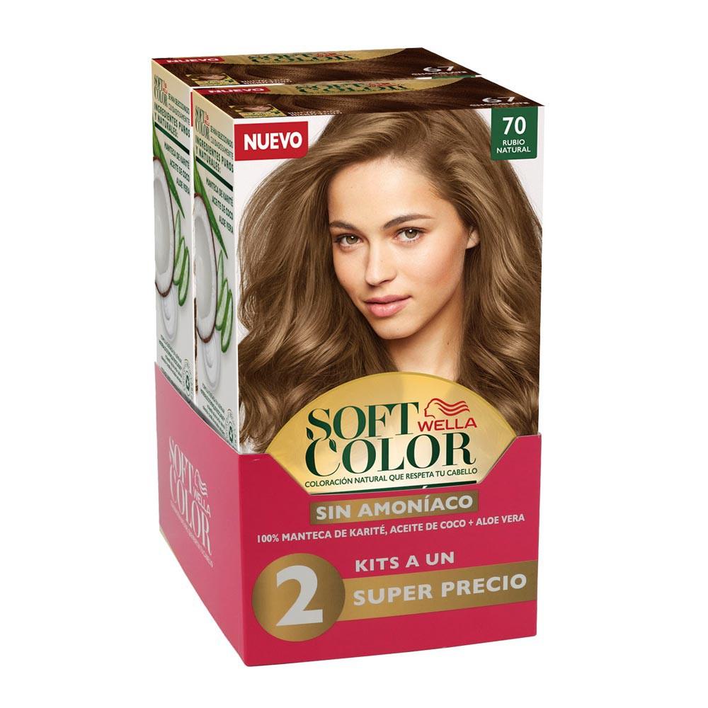 Kit Wella soft color tono 70 rubio natural x 2 und precio especial