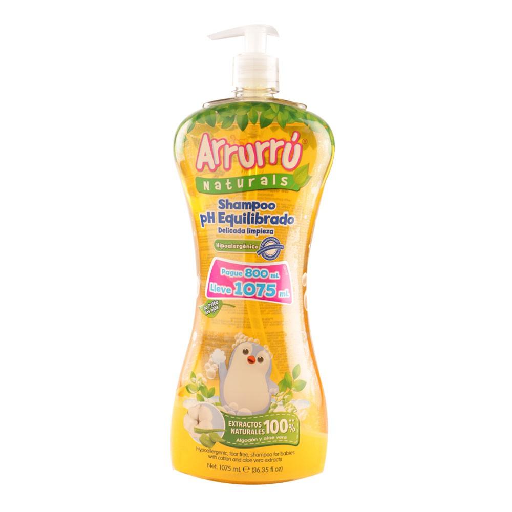 Shampoo Arrurrú natural ph equilibrado pague 800 ml lleve1075 ml