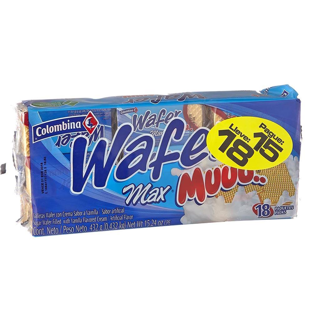 Galletas muuu max vainilla Wafer