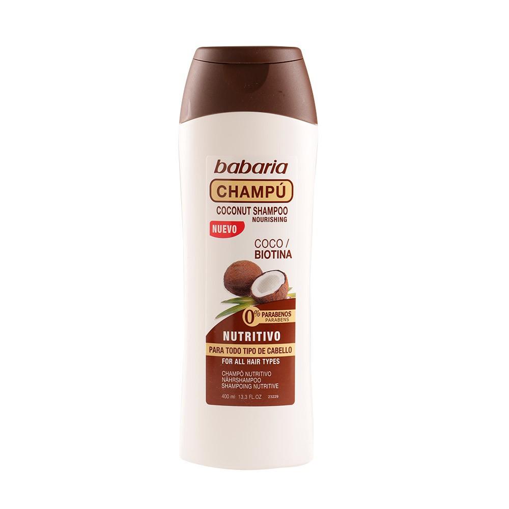 Shampoo nutritivo coco biotina todo tipo Babaria