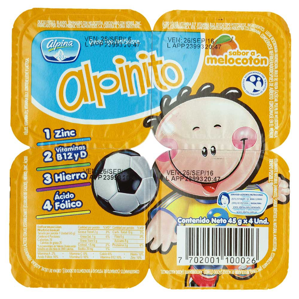 Alpinito Melocotón Alpina