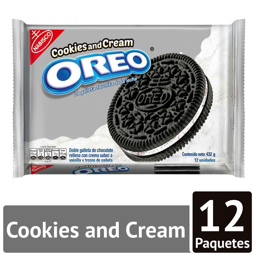 Galleta crema de cookies y cream