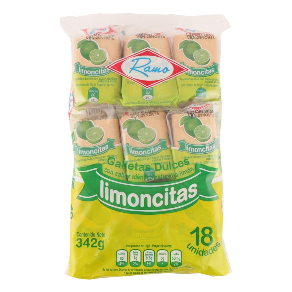 Galletas limoncitas dulces limón