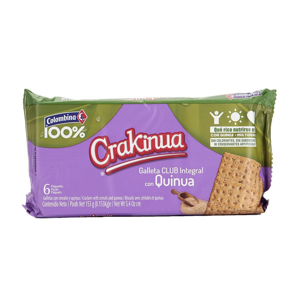 Galletas Crakinua Club Integral Quinua