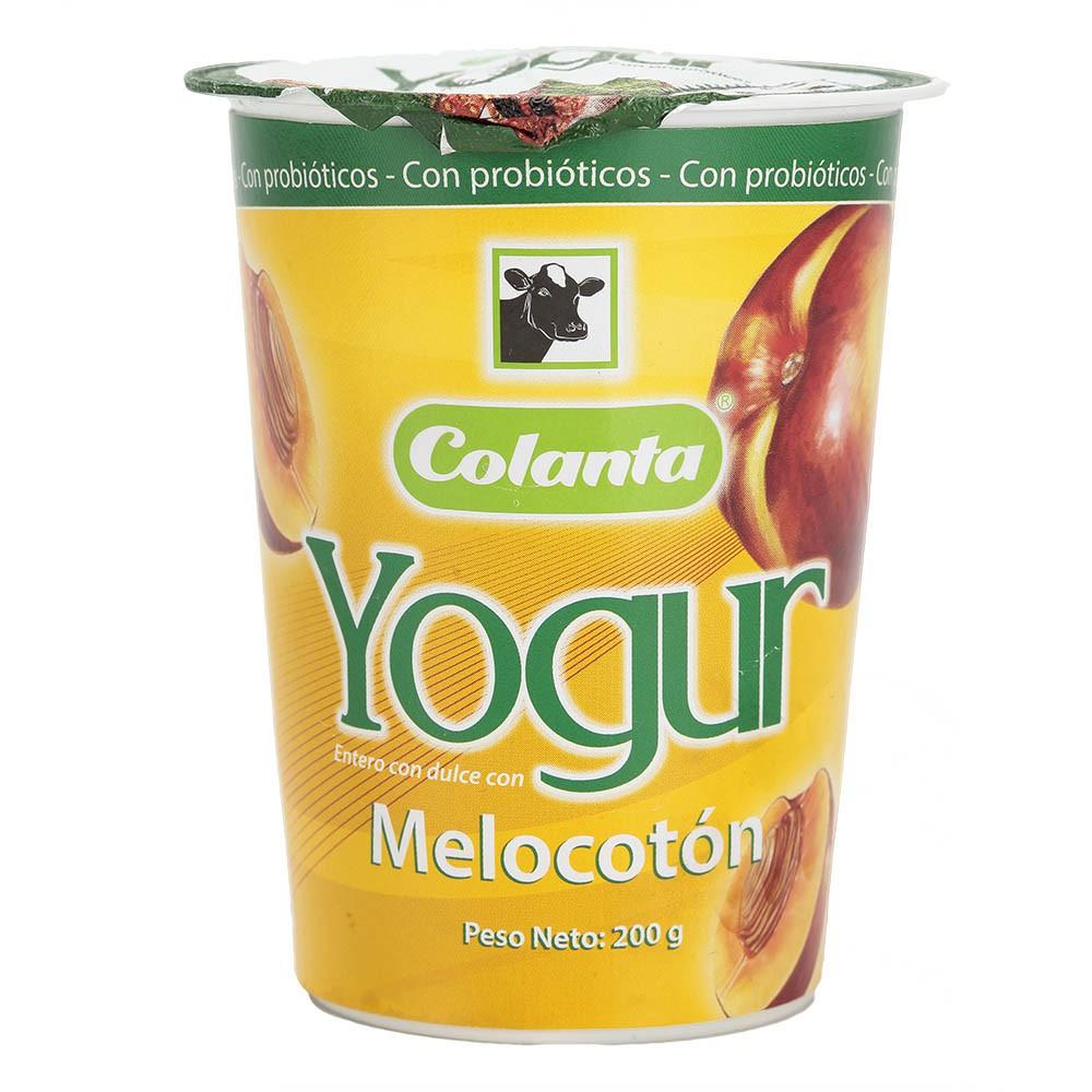 Yogurt melocotón vaso