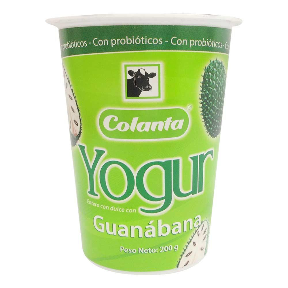 Yogur guanábana vaso colanta