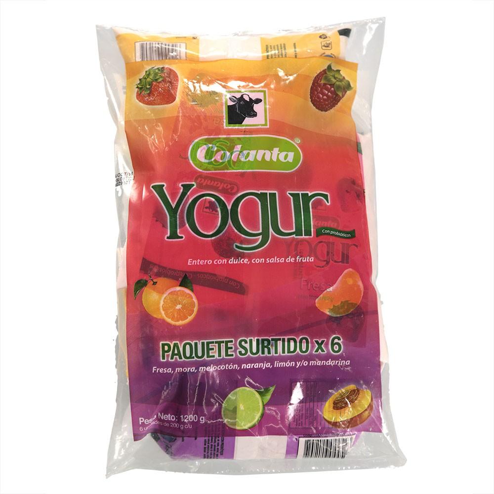 Yogur colanta 3sabores probi.x200g