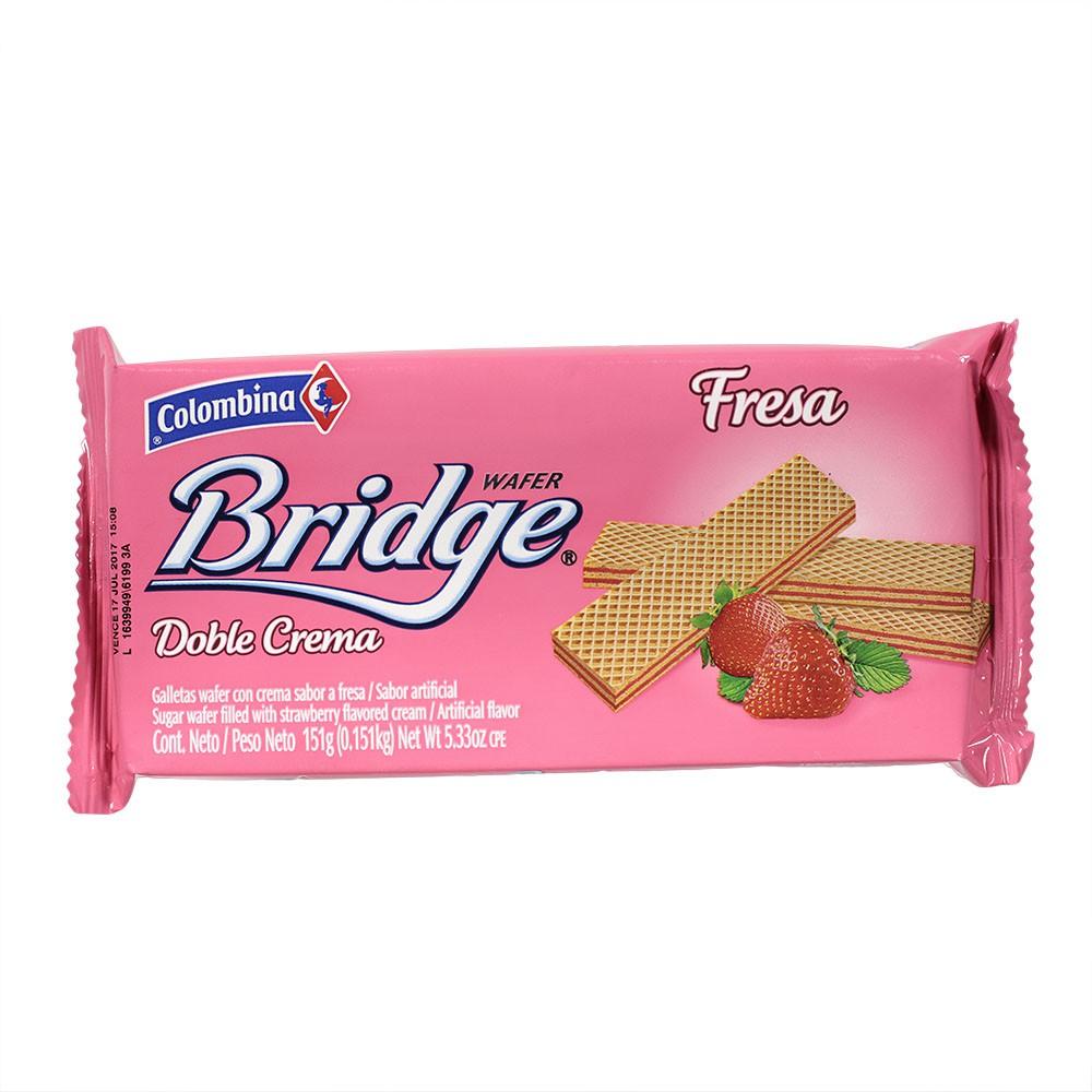 Galleta Wafer Bridge Fresa