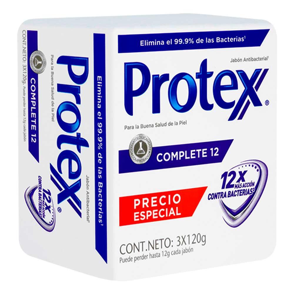 Jabón Protex antibacterial complete 12 x 3 und x 120 g c-u
