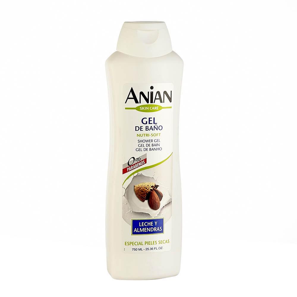 Gel de baño Anian leche de almendras x 750 ml