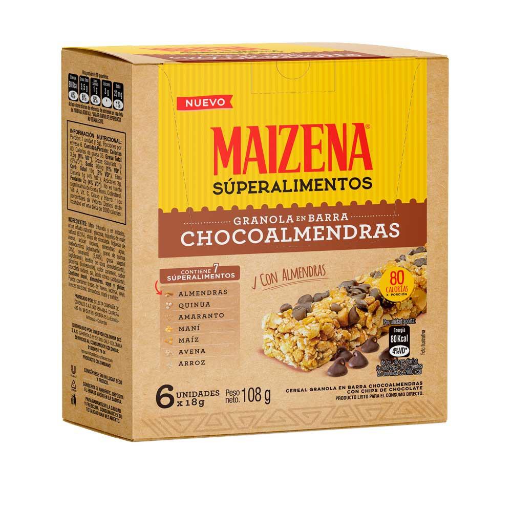 Granola Maizena chocoalmendras barra