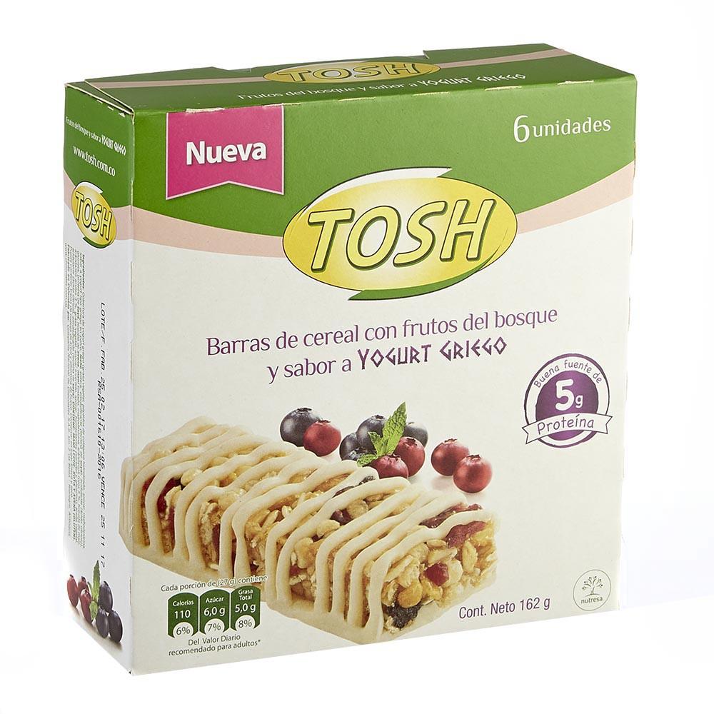 Barra cereal Tosh frutas del bosque yogurt griego