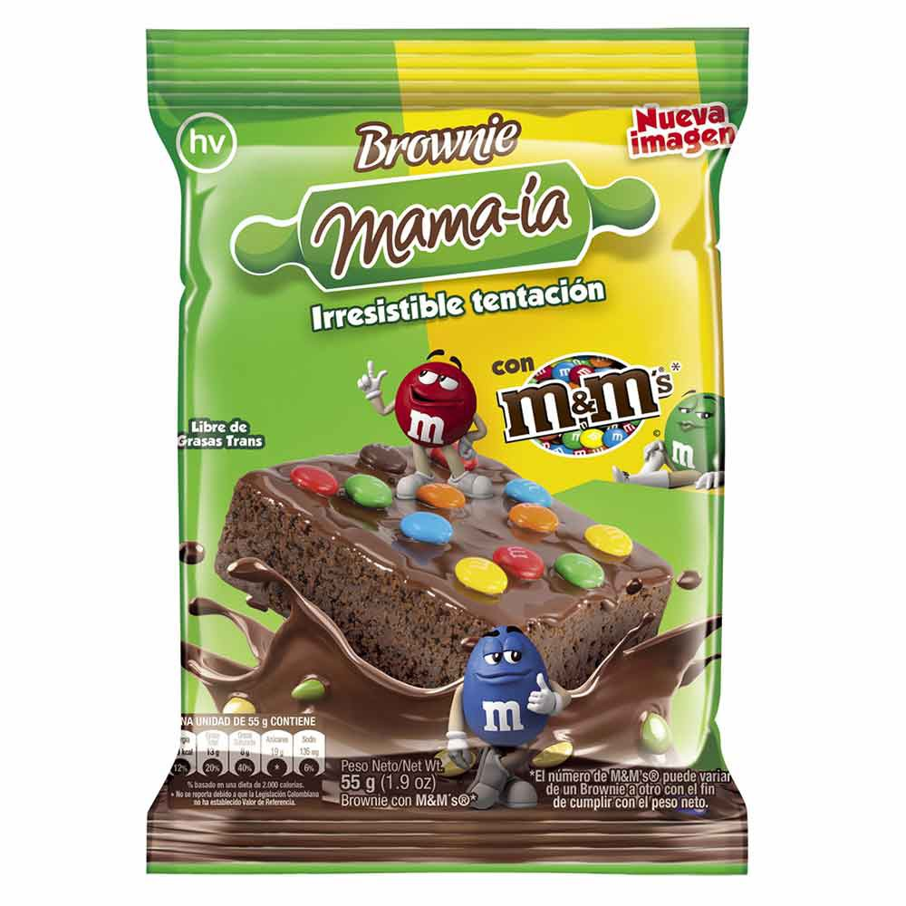 Brownie m&m's