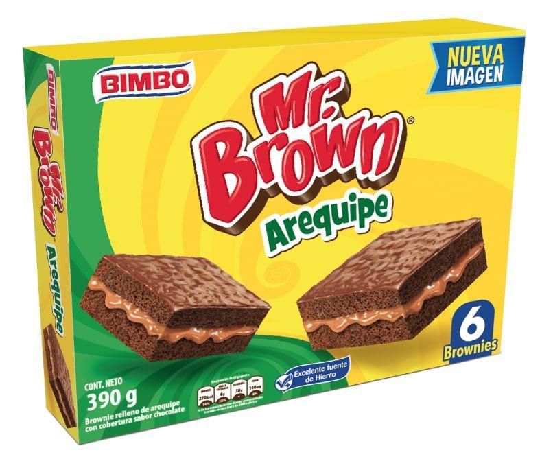 Brownie Arequipe Bimbo 6 Und