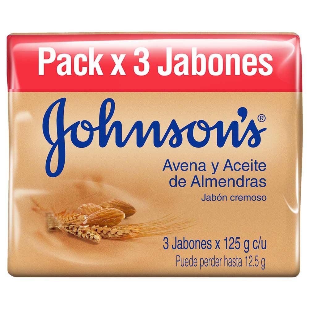 Johnson'sJabón Avena y Aceite de Almendras x 3 und x 125 g