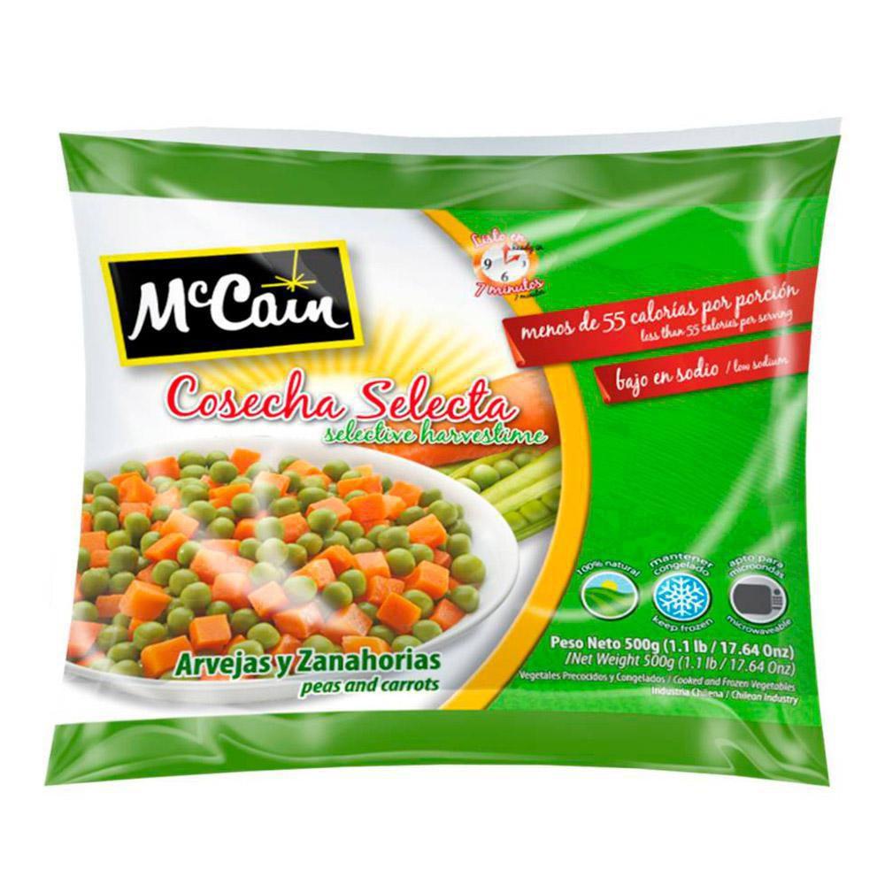 Arvejas y zanahorias congeladas McCain