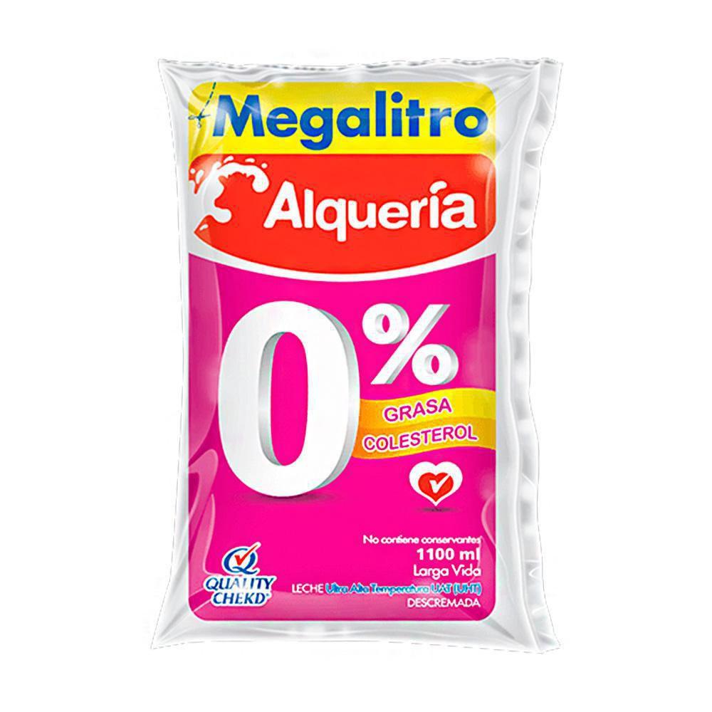 Leche deslactosada y 0% grasa megalitro